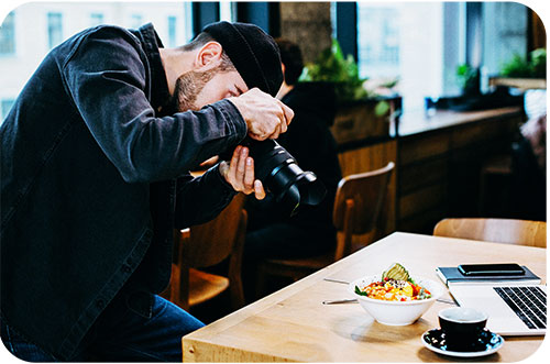 Food Photography Tips Choose a Good Scene First